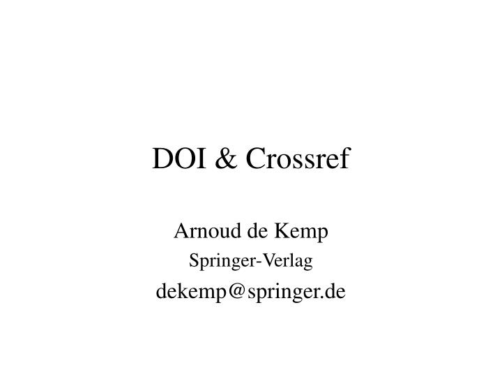 Doi crossref