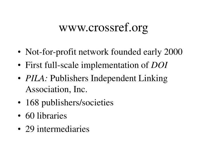 Www crossref org