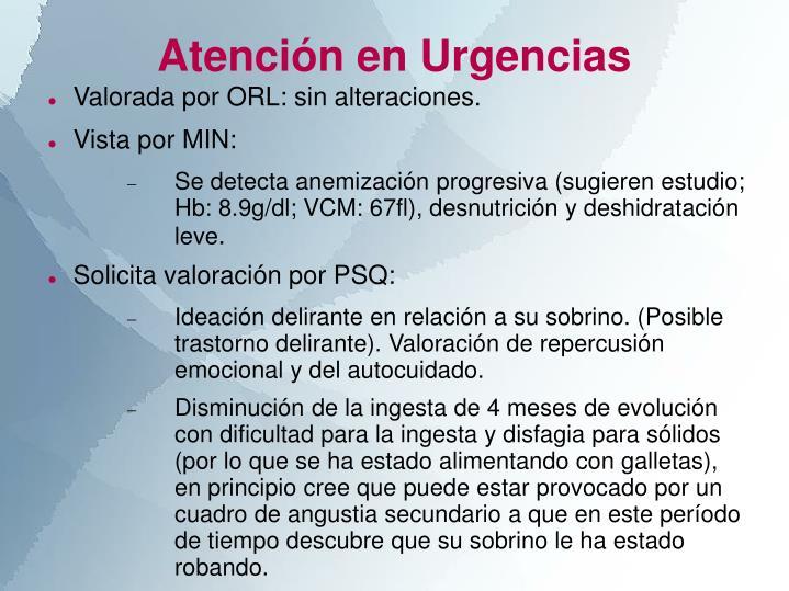 Atención en Urgencias