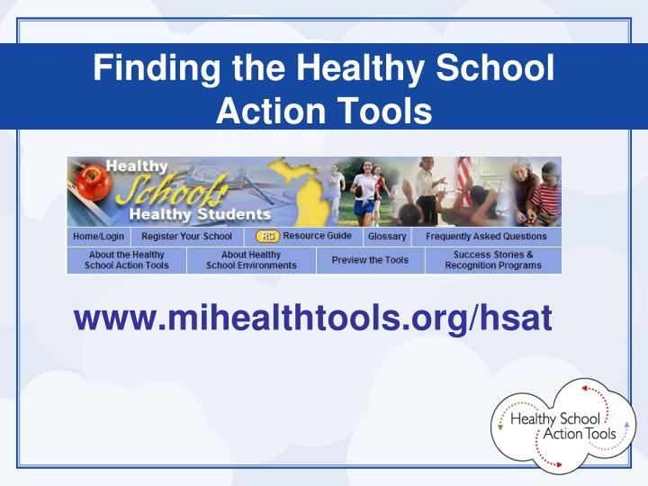 Finding the Healthy School Action Tools