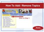 how to add remove topics