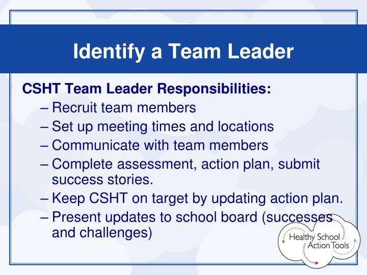 Identify a Team Leader