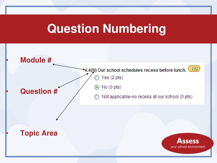 Question Numbering