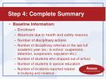 step 4 complete summary1
