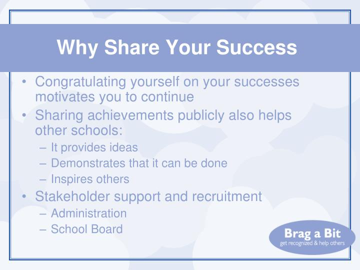 Why Share Your Success