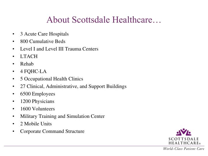 About scottsdale healthcare