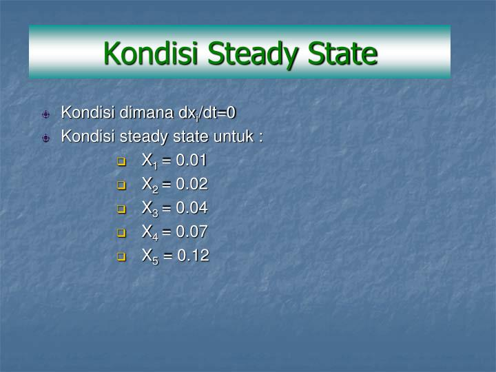 Kondisi Steady State