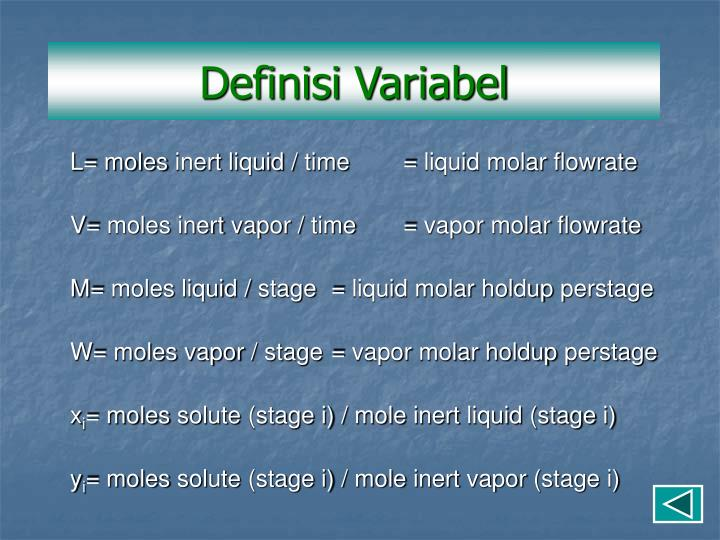Definisi Variabel