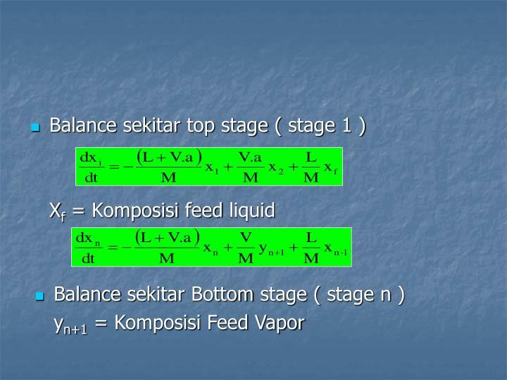 Balance sekitar top stage ( stage 1 )