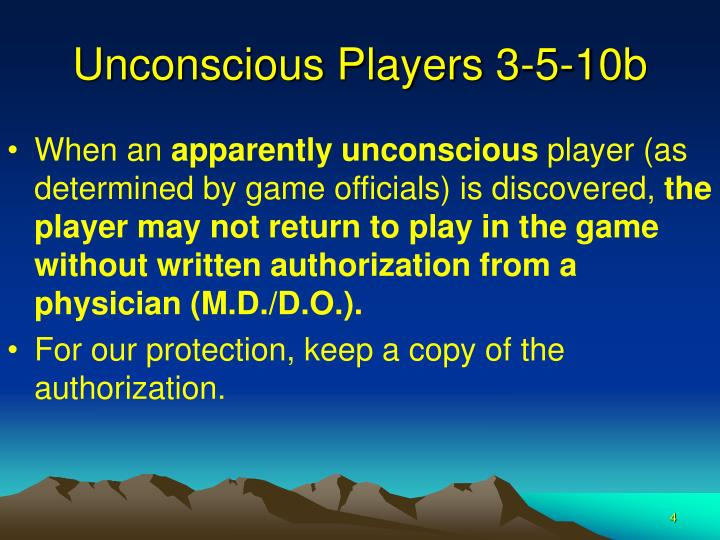 Unconscious Players 3-5-10b