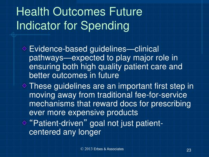 Health Outcomes Future Indicator for Spending