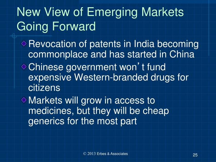 New View of Emerging Markets Going Forward