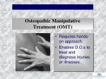 osteopathic manipulative treatment omt