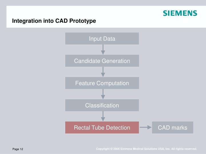 Integration into CAD Prototype