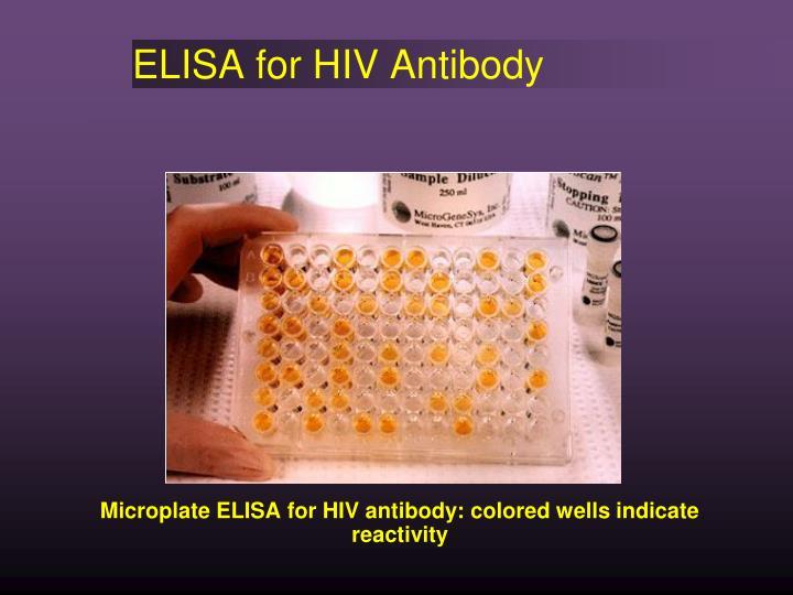 ELISA for HIV Antibody