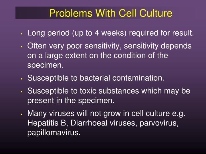Problems With Cell Culture