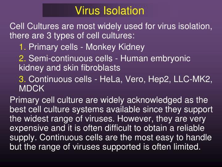 Virus Isolation