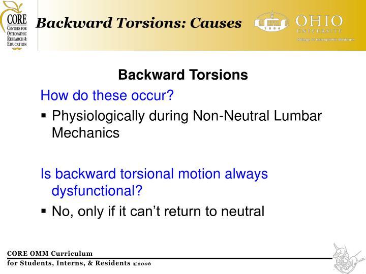 Backward Torsions