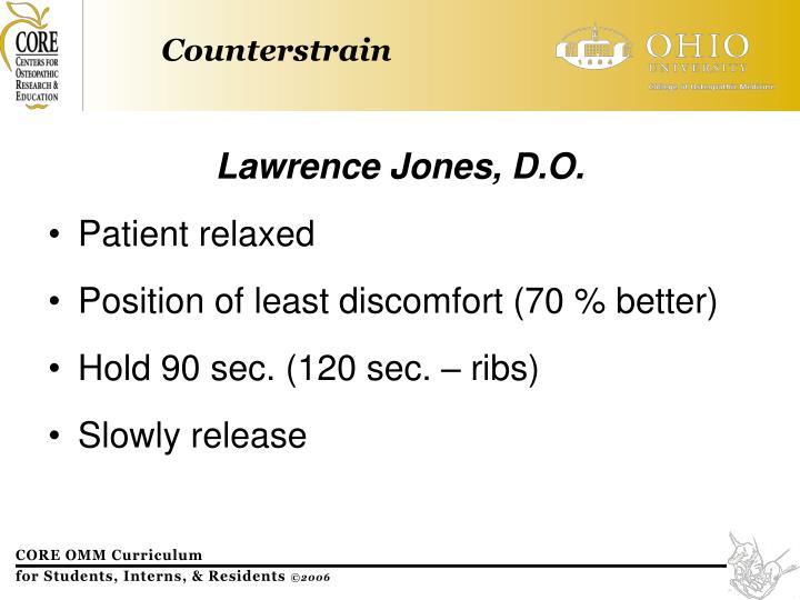 Lawrence Jones, D.O.