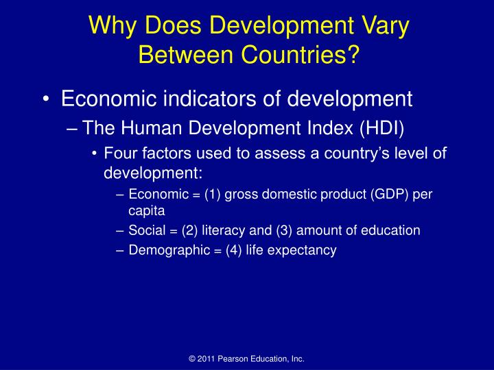 Why Does Development Vary Between Countries?