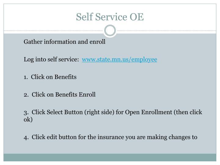 Self Service OE