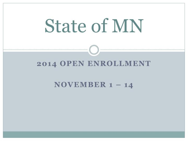 State of MN