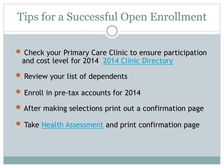 Tips for a Successful Open Enrollment