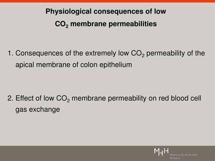 Physiological consequences of low