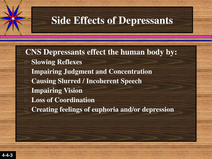 Side Effects of Depressants