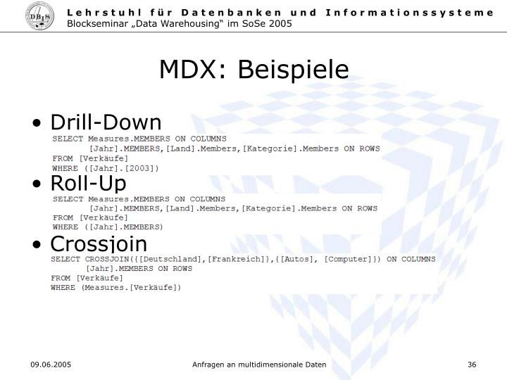 MDX: Beispiele