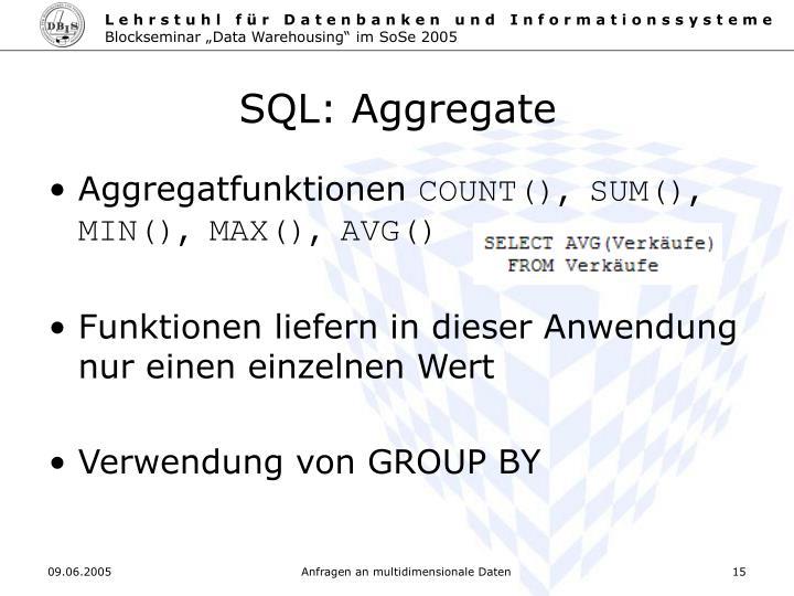 SQL: Aggregate
