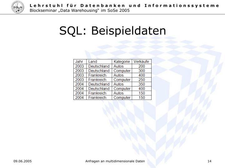 SQL: Beispieldaten