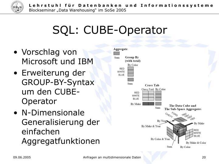 SQL: CUBE-Operator