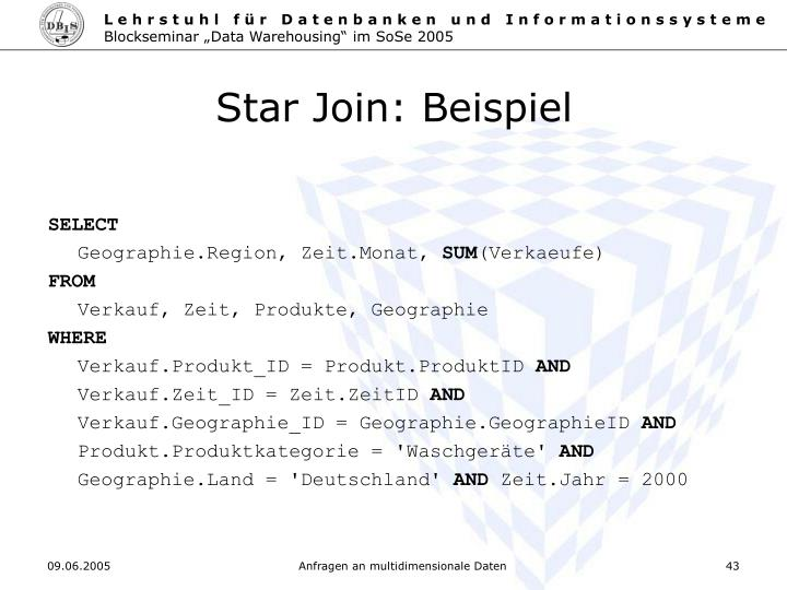 Star Join: Beispiel