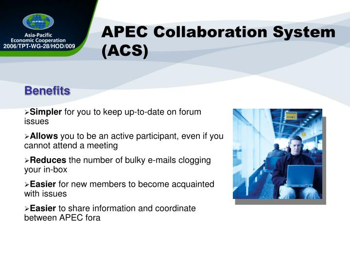 APEC Collaboration System (ACS)