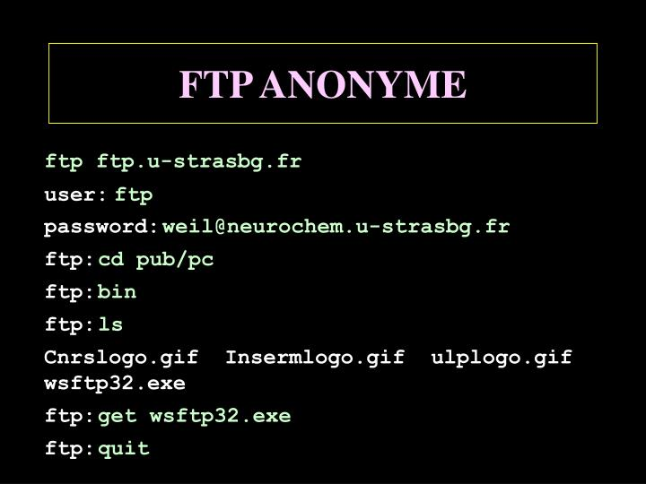 FTP ANONYME