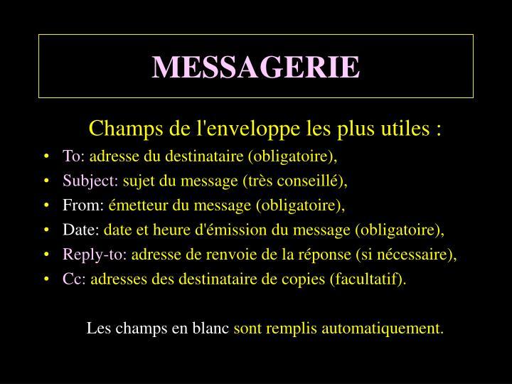 MESSAGERIE