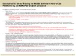 examples for contributing to nessi software services platform by doremopat project proposal