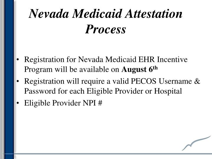 Nevada Medicaid Attestation Process
