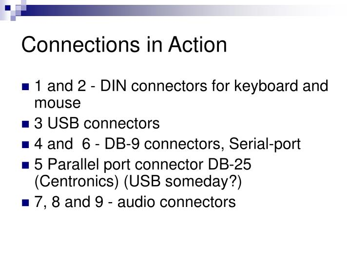 Connections in Action