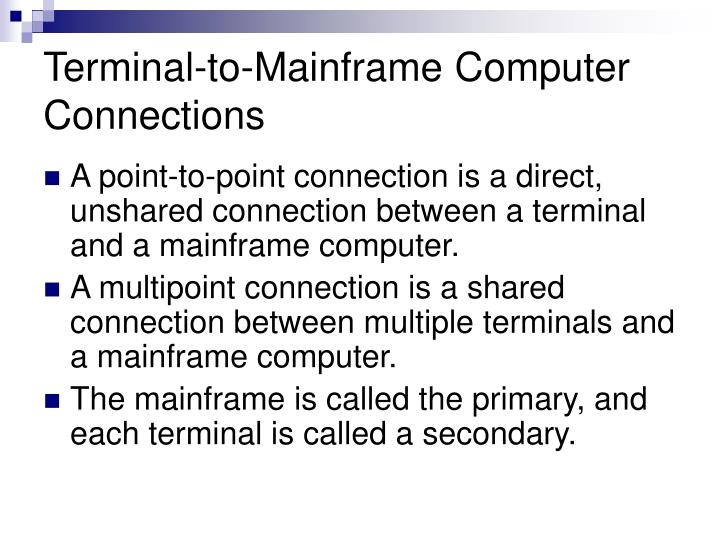 Terminal-to-Mainframe Computer Connections