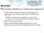why primary databases to study nurse migration1