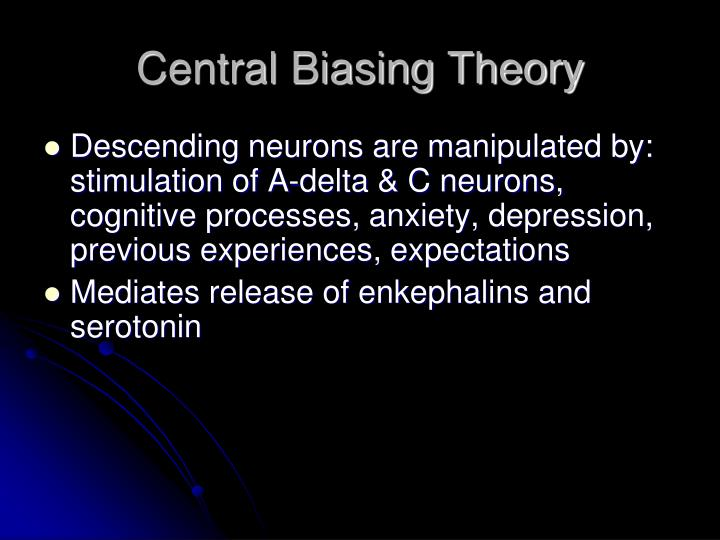 Central Biasing Theory