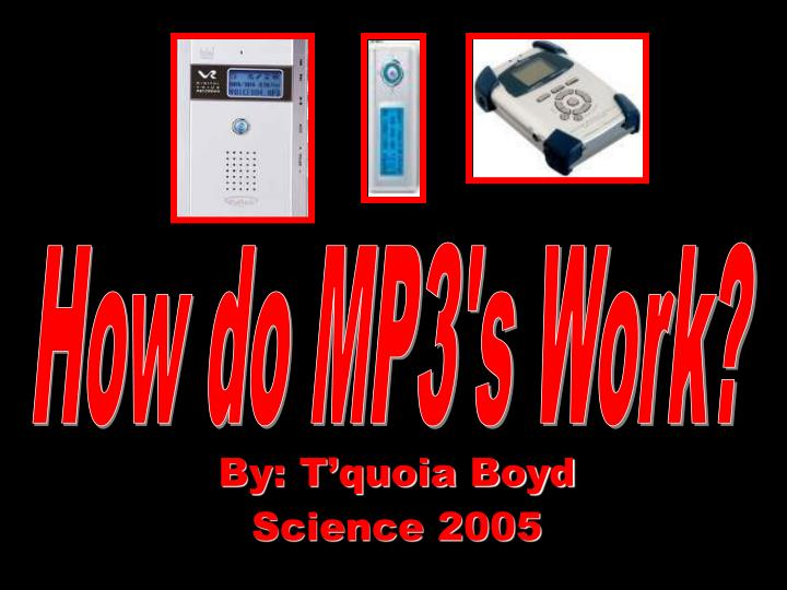 How do MP3's Work?
