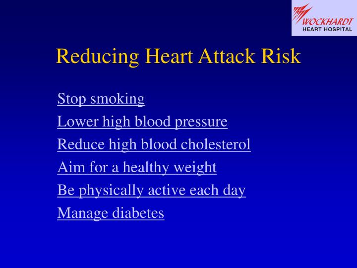 Reducing Heart Attack Risk