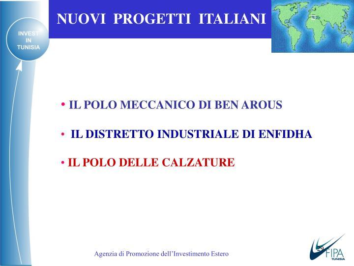 NUOVI  PROGETTI  ITALIANI