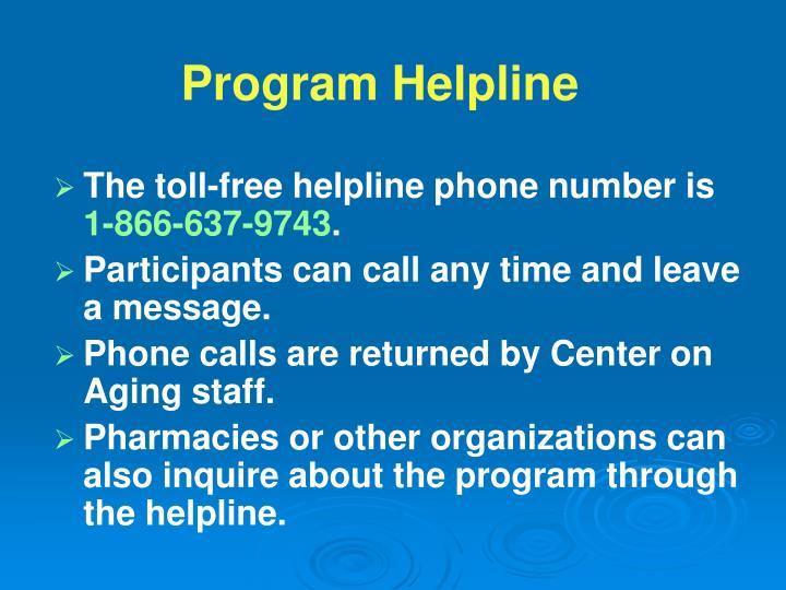 The toll-free helpline phone number is
