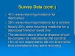 survey data cont