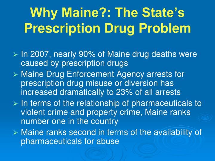 Why Maine?: The State's Prescription Drug Problem