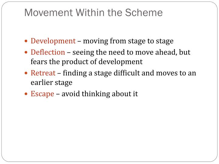 Movement Within the Scheme
